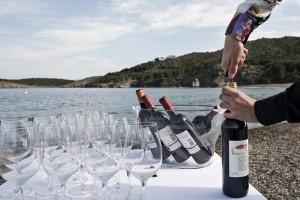 Tast de vins a la platja