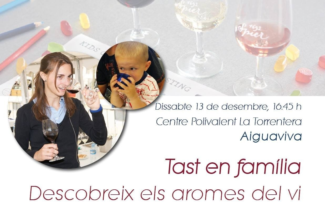 Aromes del vi en família a Aiguaviva